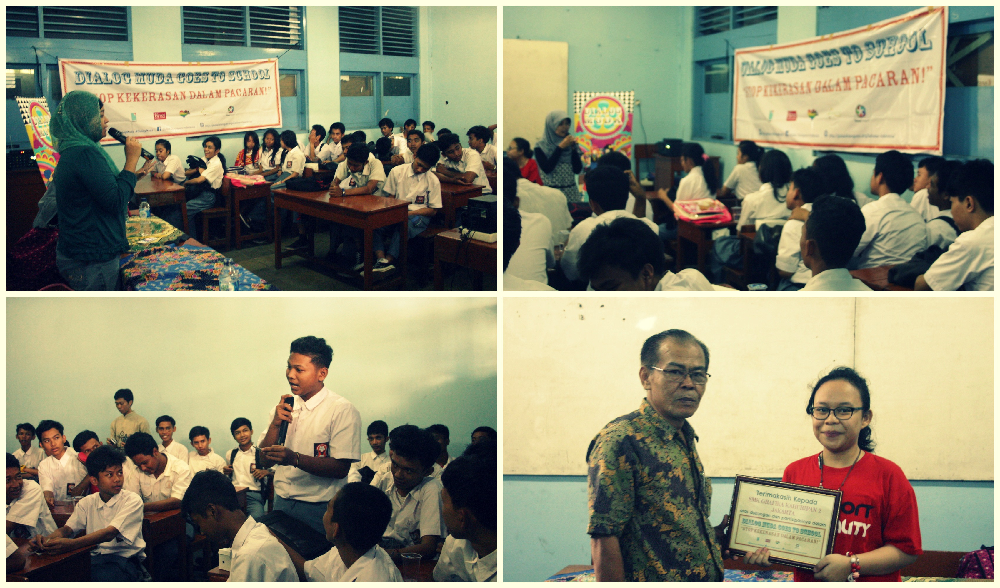 "Stop Kekerasan Dalam Pacaran"" di SMK Grafika Kahuripan 2 Jakarta"